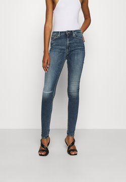 Tommy Jeans - SYLVIA SUPER SKNY  - Jeans Skinny Fit - palmer mid blue stretch destructed