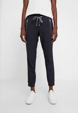 TOM TAILOR - LOOSE FIT PANTS WITH ZIPS - Stoffhose - navy blue