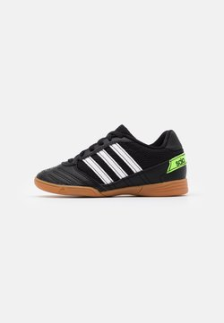 adidas Performance - SUPER SALA FOOTBALL SHOES INDOOR - Chaussures de foot en salle - core black/footwear white/simple green