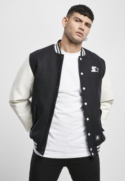 Starter - COLLEGE - Giubbotto Bomber - black/white