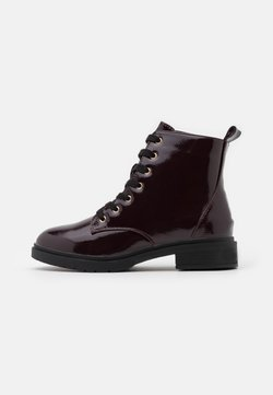 New Look Wide Fit - WIDE FIT DIGGER LACE UP - Bottines à lacets - dark red