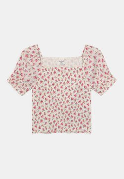 Abercrombie & Fitch - SMOCKED CORSET - Blouse - white