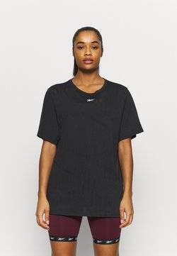 Reebok - BURNOUT TEE - T-Shirt print - black