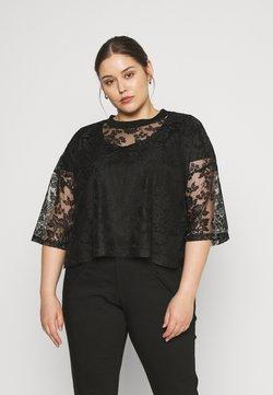 Glamorous Curve - LONG CROP TEE - Bluzka - black