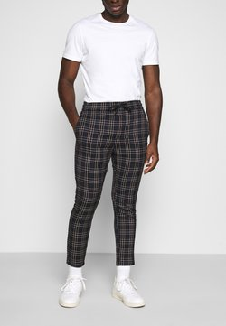 Only & Sons - ONSLINUS CROPPEED CHECK PANT - Stoffhose - blues