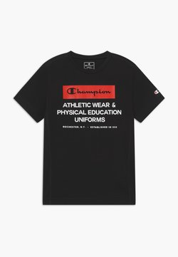 Champion - CHAMPION X ZALANDO BOYS PERFORMANCE TEE - T-shirt z nadrukiem - black