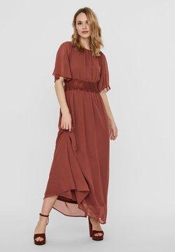 Vero Moda - VMSALLY MAXI DRESS - Ballkleid - mahogany