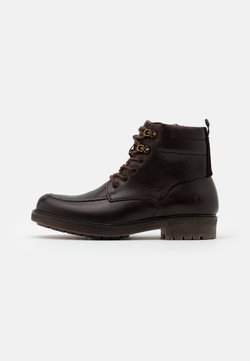 Timberland - OAKROCK WP ZIP BOOT - Schnürstiefelette - dark brown