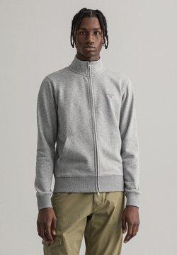 GANT - Felpa con zip - grey melange