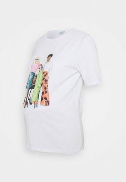 Pieces Maternity - PCMJUNA TEE  - T-Shirt print - bright white