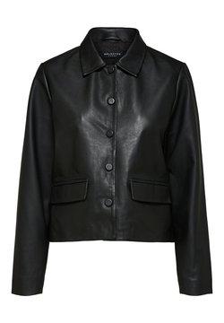 Selected Femme - Leren jas - black