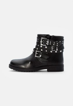 Friboo - LEATHER BOOTIES - Santiags - black