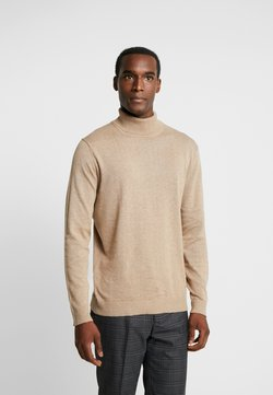 Selected Homme - SLHTOWER ROLL NECK  - Strickpullover - tuffet/melange