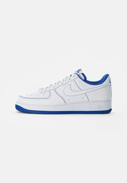 Nike Sportswear - AIR FORCE 1 STITCH - Sneakers - white/white-game royal