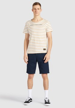 khujo - SPIRIT - T-Shirt print - ocher-white