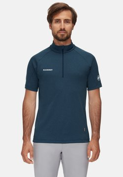 Mammut - AEGILITY  - T-shirt con stampa - marine melange-white