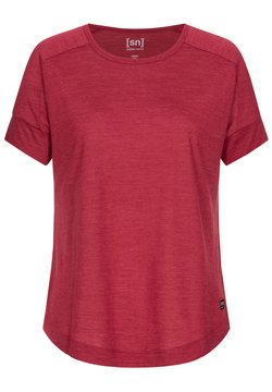 super.natural - ISLA TEE - T-Shirt basic - rubinrot
