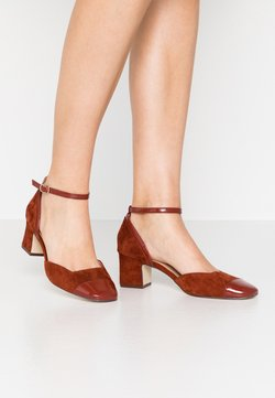 Anna Field - LEATHER PUMPS - Pumps - brown