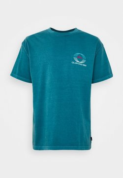 Quiksilver - NEON BALLROOM  - T-Shirt print - blue coral