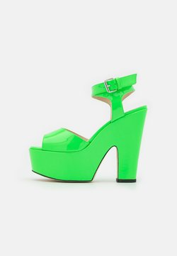 Christopher Kane - PLATFORM - Korolliset sandaalit - neon green