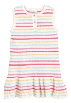 Next - RED SLEEVELESS KNITTED DRESS (3MTHS-7YRS) - Strickkleid - off-white