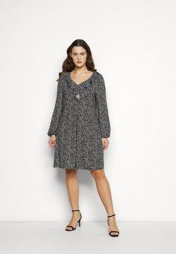 Evans - V NECK MONO DRESS - Jerseykleid - black