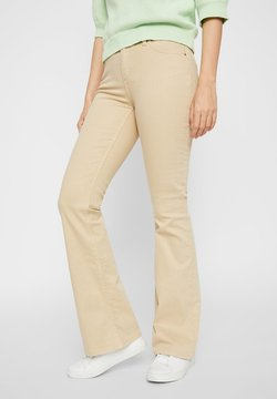 Pieces - Flared Jeans - beige
