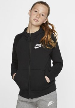 Nike Sportswear - G NSW PE FULL ZIP - veste en sweat zippée - black/white