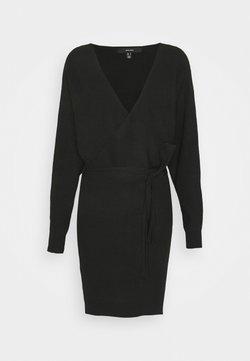 Vero Moda - VMREM VNECK  - Jumper dress - black