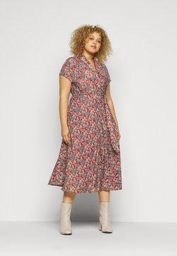 Lauren Ralph Lauren Woman - AMIT SHORT SLEEVE CASUAL DRESS - Freizeitkleid - red/multi