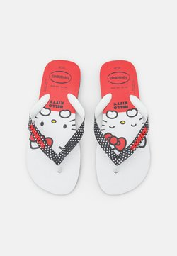 Havaianas - HAV. TOP HELLO KITTY - Teenslippers - black