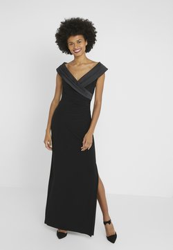 Lauren Ralph Lauren - MID WEIGHT LONG GOWN COMBO - Vestido de fiesta - black