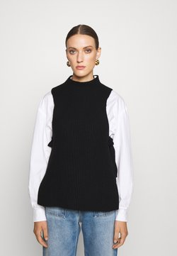 FTC Cashmere - NO SLEEVE - Sweter - moonless night