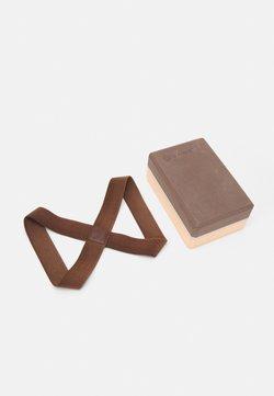 Bahe - PACK BLOCK  LOOP LARGE SET - Fitness / Yoga - dusty peach/cinnamon