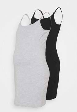 Anna Field MAMA - NURSING 2 PACK JERSEY DRESS - Jerseykleid - black/light grey