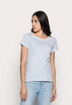 TOM TAILOR - T-shirt con stampa - offwhite/blue