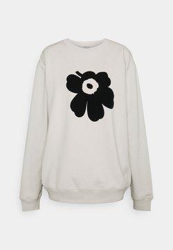 Marimekko - KIOSKI JUOMU UNIKKO PLACEMENT  - Sweatshirt - light beige/black
