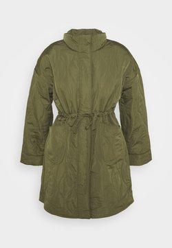YAS Petite - YASWENNA QUILTED COAT - Abrigo corto - khaki