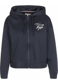 Tommy Hilfiger - FZ LWK - veste en sweat zippée - navy blazer