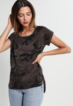 Urban Classics - CAMO  - T-Shirt print - dark green