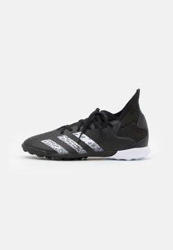 adidas Performance - PREDATOR FREAK .3 TF UNISEX - Botas de fútbol multitacos - core black/footwear white