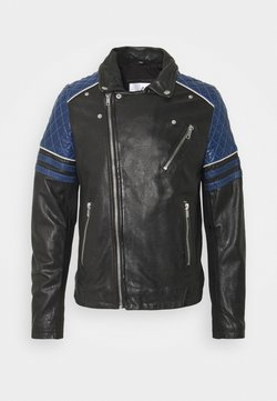 Serge Pariente - BENNY - Leather jacket - black/atoll