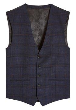Next - SIGNATURE CHECK SLIM FIT SUIT: WAISTCOAT - Gilet elegante - blue