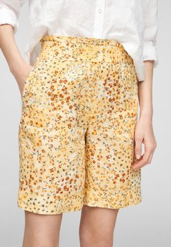 s.Oliver - Shorts - sunlight yellow aop