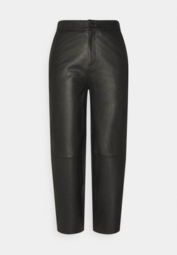 Object Petite - OBJVIOLA - Pantalón de cuero - black