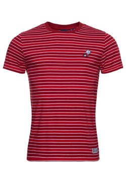 Superdry - COLLEGIATE APPLIQUE - T-Shirt print - chilli pepper stripe