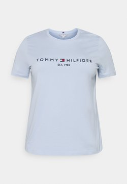 Tommy Hilfiger Curve - TEE  - T-Shirt print - breezy blue