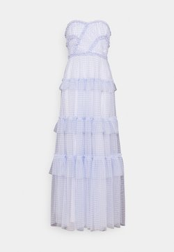 Needle & Thread - CAROLINE GINGHAM GOWN - Occasion wear - wedgewood blue/ ivory