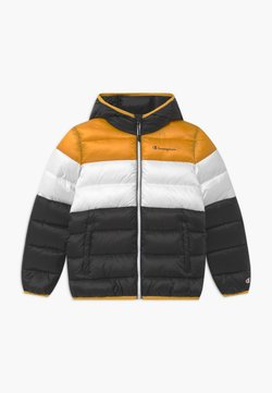 Champion - COLOR BLOCK UNISEX - Talvitakki - black/white/yellow