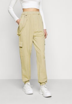 Missguided Tall - RING STRAP PANT - Pantalon classique - beige